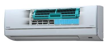 Rengjøring av IAQ-filter - illustrasjon med Daiseikai Polar varmepumpe