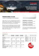 Produktark Toshiba Mirai